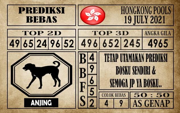 Prediksi Hongkong Pools Hari Ini 19 Juli 2021