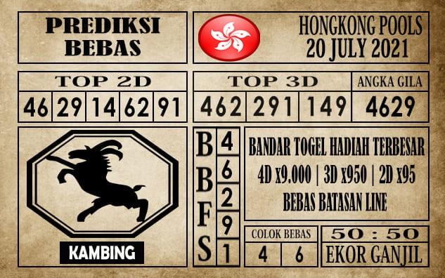 Prediksi Hongkong Pools Hari Ini 20 Juli 2021
