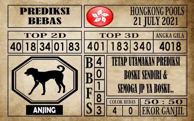 Prediksi Hongkong Pools Hari Ini 21 Juli 2021