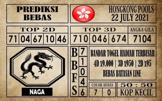 Prediksi Hongkong Pools Hari Ini 22 Juli 2021