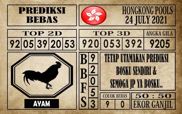 Prediksi Hongkong Pools Hari Ini 24 Juli 2021