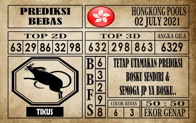 Prediksi Hongkong Pools Hari Ini 02 Juli 2021