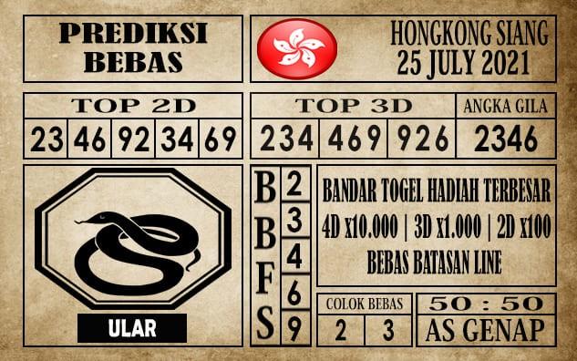 Prediksi Hongkong Siang Hari Ini 25 Juli 2021