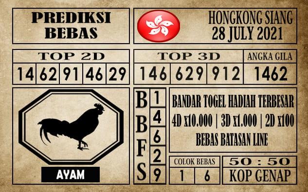 Prediksi Hongkong Siang Hari Ini 28 Juli 2021