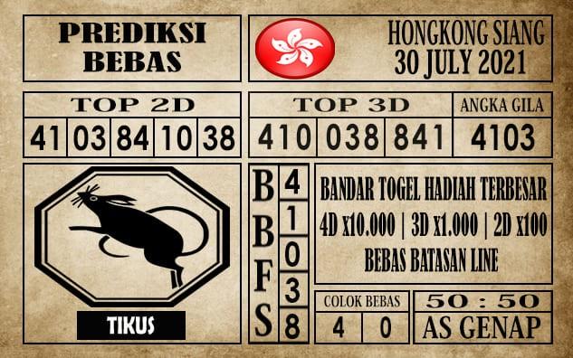 Prediksi Hongkong Siang Hari Ini 30 Juli 2021