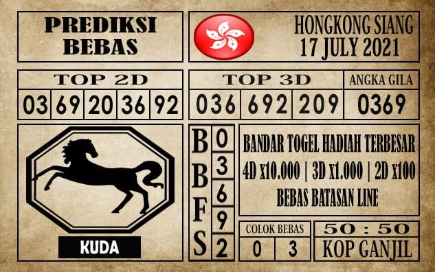 Prediksi Hongkong Siang Hari Ini 17 Juli 2021