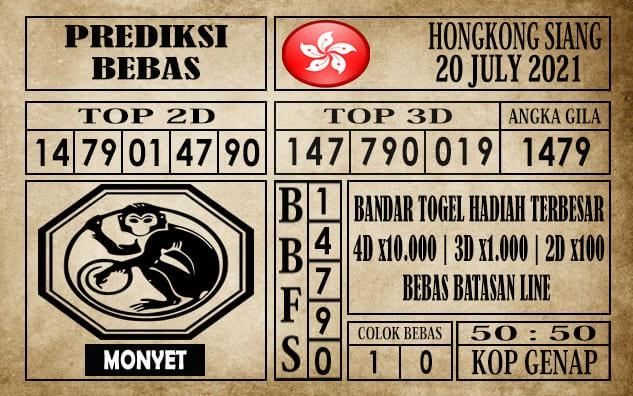 Prediksi Hongkong Siang Hari Ini 20 Juli 2021