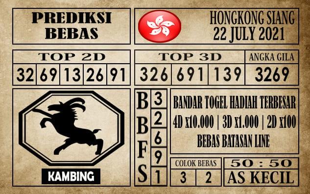 Prediksi Hongkong Siang Hari Ini 22 Juli 2021