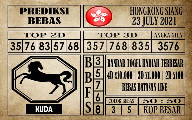 Prediksi Hongkong Siang Hari Ini 23 Juli 2021