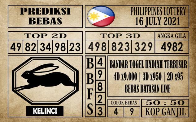 Prediksi Filipina PCSO Hari Ini 16 Juli 2021