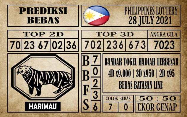 Prediksi Filipina PCSO Hari Ini 28 Juli 2021