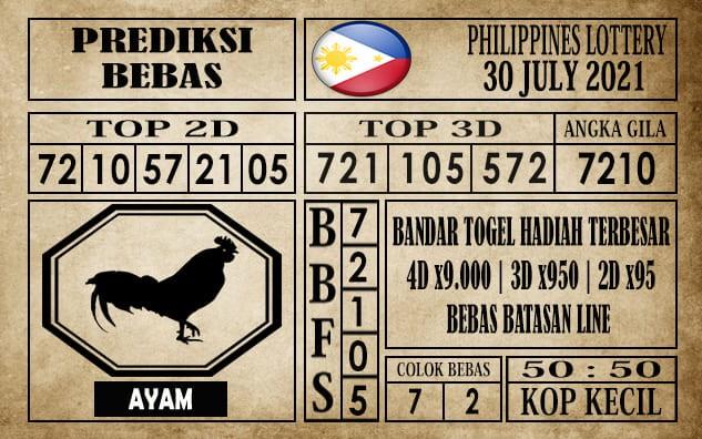 Prediksi Filipina PCSO Hari Ini 30 Juli 2021