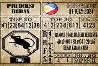 Prediksi Filipina PCSO Hari Ini 31 Juli 2021
