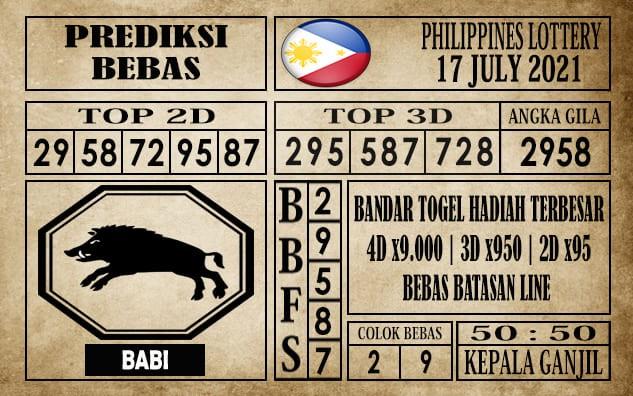Prediksi Filipina PCSO Hari Ini 17 Juli 2021