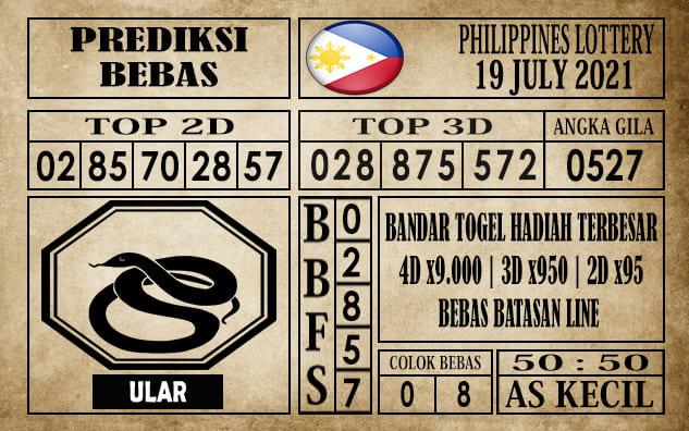 Prediksi Filipina PCSO Hari Ini 19 Juli 2021