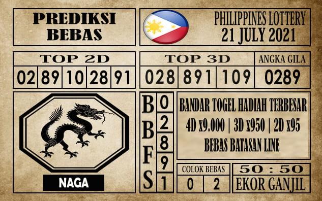Prediksi Filipina PCSO Hari Ini 21 Juli 2021