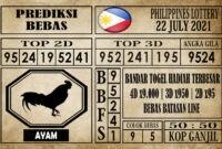 Prediksi Filipina PCSO Hari Ini 22 Juli 2021