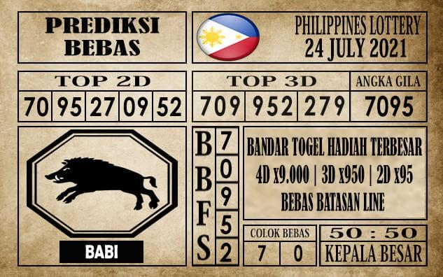 Prediksi Filipina PCSO Hari Ini 24 Juli 2021