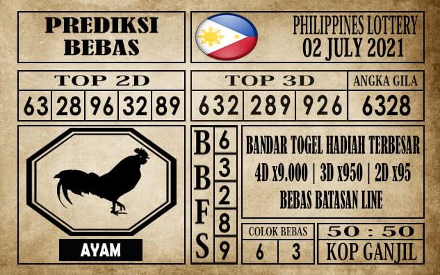 Prediksi Filipina PCSO Hari Ini 02 Juli 2021