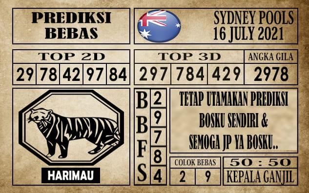 Prediksi Sydney Pools Hari Ini 16 Juli 2021