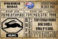 Prediksi Sydney Pools Hari Ini 26 Juli 2021