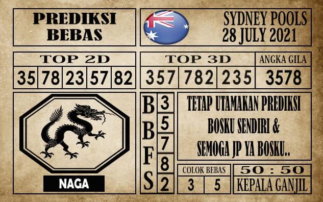 Prediksi Sydney Pools Hari Ini 28 Juli 2021