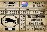 Prediksi Sydney Pools Hari Ini 30 Juli 2021