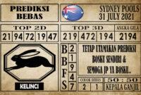 Prediksi Sydney Pools Hari Ini 31 Juli 2021