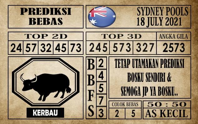 Prediksi Sydney Pools Hari Ini 18 Juli 2021