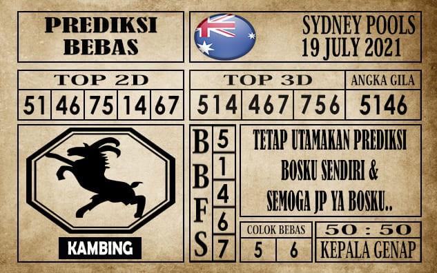 Prediksi Sydney Pools Hari Ini 19 Juli 2021