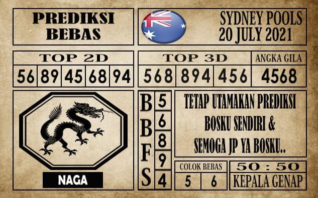 Prediksi Sydney Pools Hari Ini 20 Juli 2021