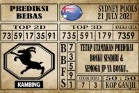 Prediksi Sydney Pools Hari Ini 21 Juli 2021