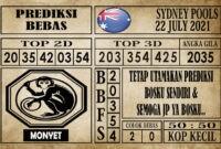 Prediksi Sydney Pools Hari Ini 22 Juli 2021