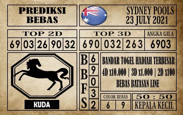 Prediksi Sydney Pools Hari Ini 23 Juli 2021