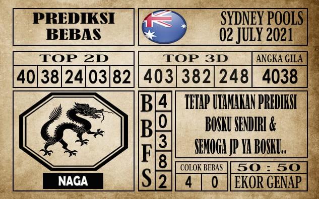 Prediksi Sydney Pools Hari Ini 02 Juli 2021