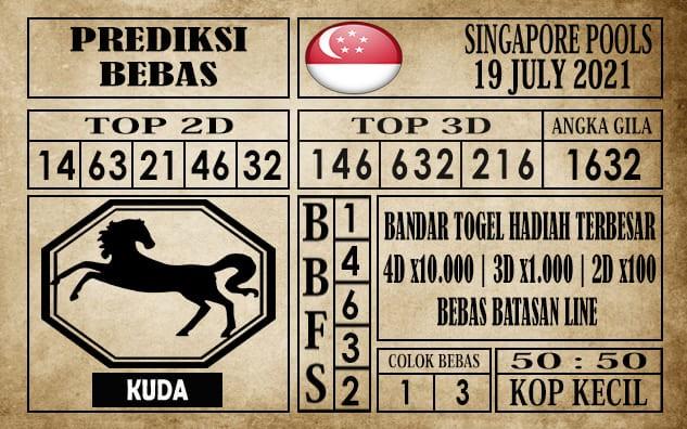 Prediksi Singapore Pools Hari ini 19 Juli 2021