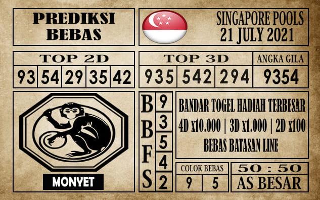 Prediksi Singapore Pools Hari ini 21 Juli 2021