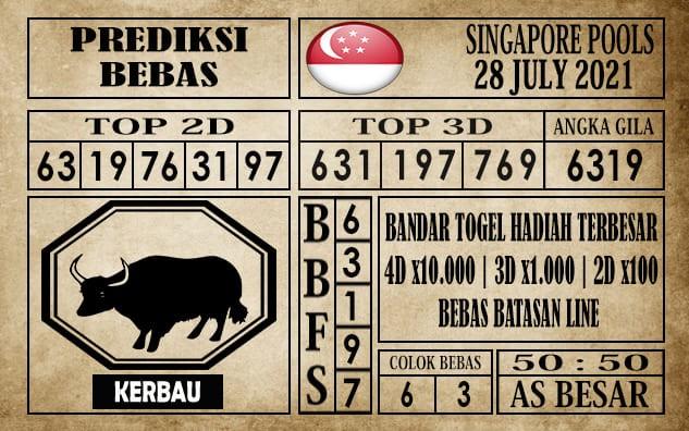 Prediksi Singapore Pools Hari ini 28 Juli 2021