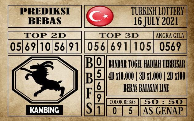 Prediksi Turkish Lottery Hari Ini 16 Juli 2021