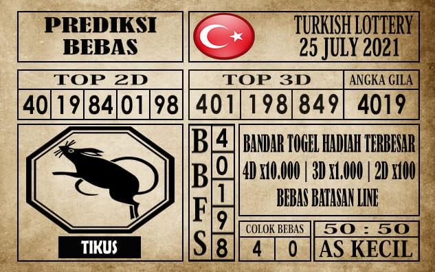 Prediksi Turkish Lottery Hari Ini 25 Juli 2021