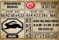 Prediksi Turkish Lottery Hari Ini 26 Juli 2021