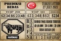 Prediksi Turkish Lottery Hari Ini 27 Juli 2021