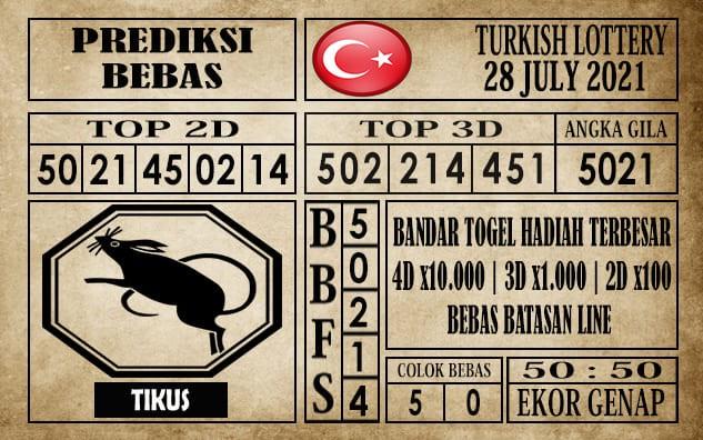 Prediksi Turkish Lottery Hari Ini 28 Juli 2021