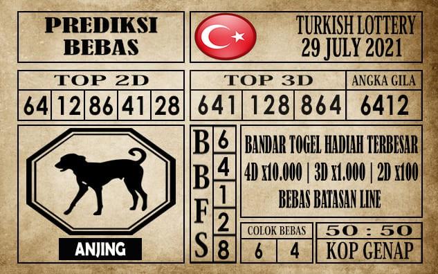 Prediksi Turkish Lottery Hari Ini 29 Juli 2021