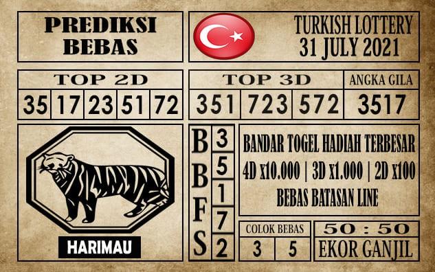 Prediksi Turkish Lottery Hari Ini 31 Juli 2021