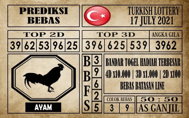 Prediksi Turkish Lottery Hari Ini 17 Juli 2021