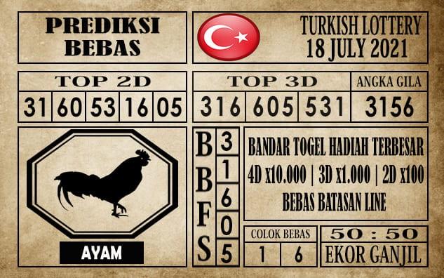 Prediksi Turkish Lottery Hari Ini 18 Juli 2021