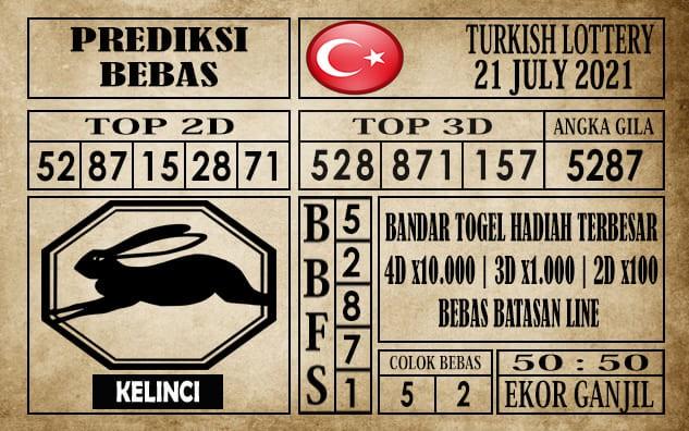 Prediksi Turkish Lottery Hari Ini 21 Juli 2021