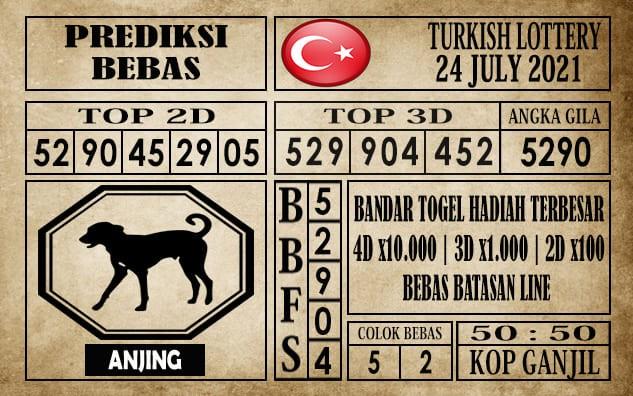 Prediksi Turkish Lottery Hari Ini 24 Juli 2021