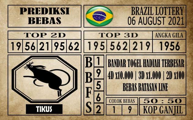 Prediksi Brazil Lottery Hari Ini 06 Agustus 2021